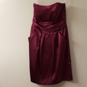 Merlot bridesmaid dress